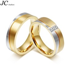 Wholesales Stainless Steel Wedding Ring with Gold Plated for man