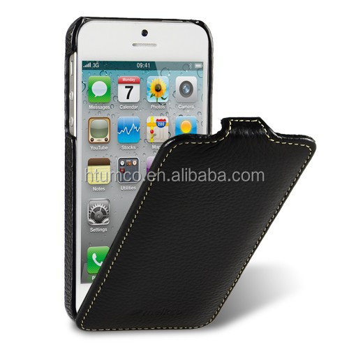 Premium black mobile case,leather case,for iPhone 5/5S/5C - Jacka Type