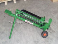 Pedal wood log cutter and splitter