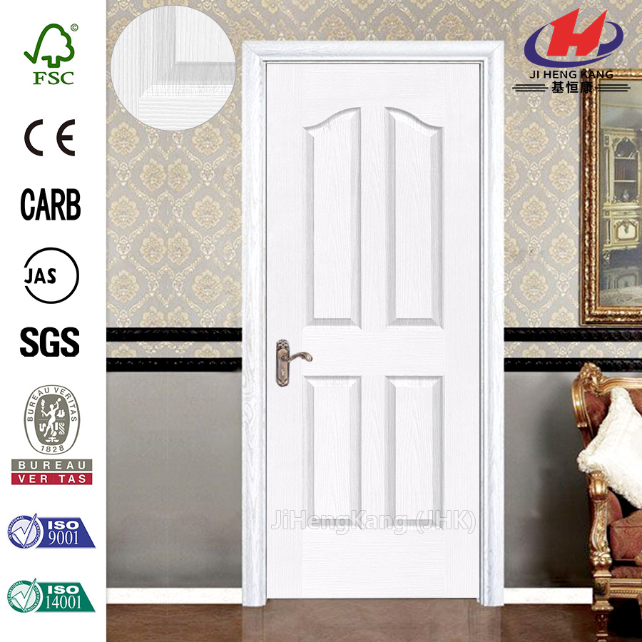 JHK-004 Sale Modern Solid Wood White Interior Doors