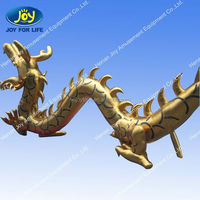 Giant customized design Blue inflatable dragon