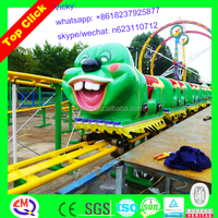 mini roller coaster! kiddie amusement rides caterpillar track train, worm roller coaster for sale