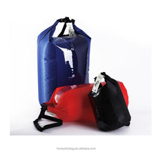dry bag waterproof pouch 60liter big capacity with clear windows 210T Nylon coated PVC black,blue,red colors