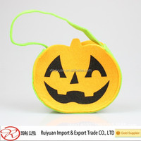 Halloween Easter party decoration Eco friendly pumpkin shape handmade basket felt easter bag