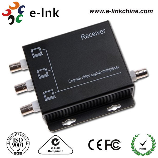 Hot sale 4 Channel analog video multiplexer/Coaxial video transmitter/CCTV multiplexer