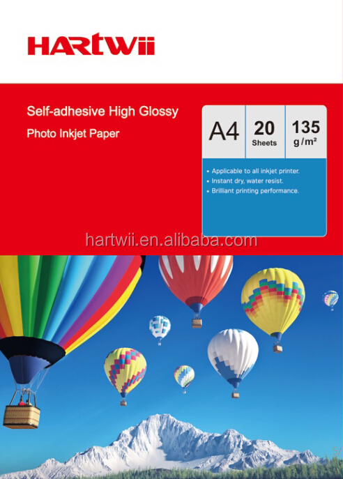 135g Self-adhesive Glossy Photo Paper