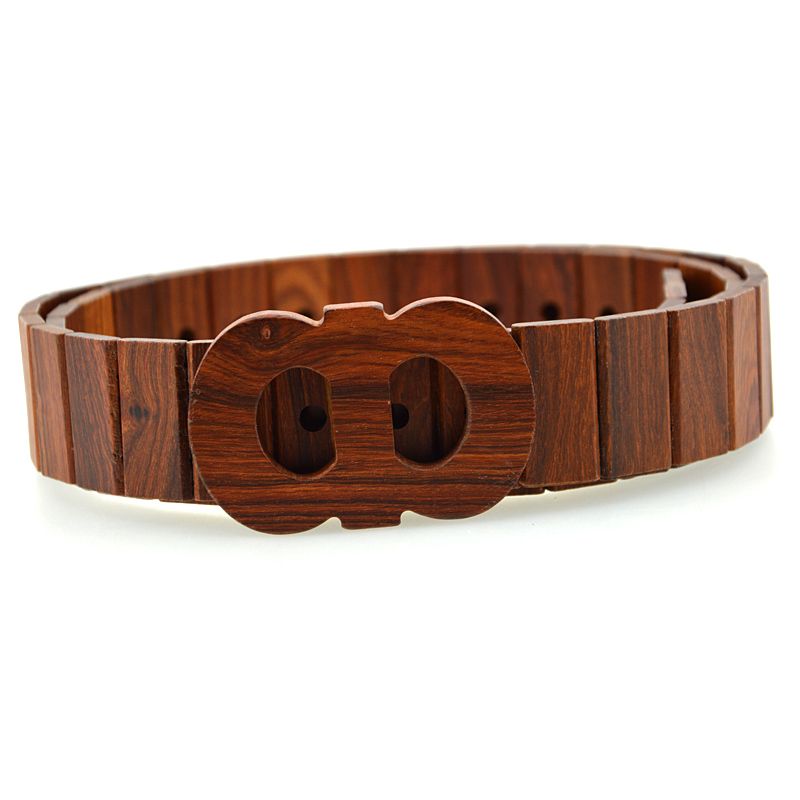 2016 fashion unique design wooden belt