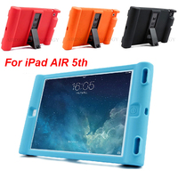 Smart Stand Case Cover for iPad 5 iPad Air 1 Cases Kids Children Safe Silicon for iPad air 1 Protective Cases Candy Colors