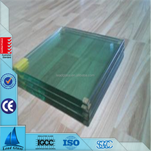 10.38mm 10.76mm 9.52mm clear tempered laminated glass