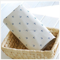 Cotton Linen Fabric Blue Sea Anchor Curtain Quilting Bags Fabric
