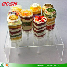 crystal plexiglass cake pop display rack Perspex cupcake wedding stand