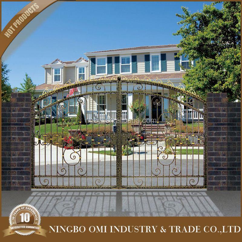 Style luxury wrought iron gate antique iron gate modern used sliding