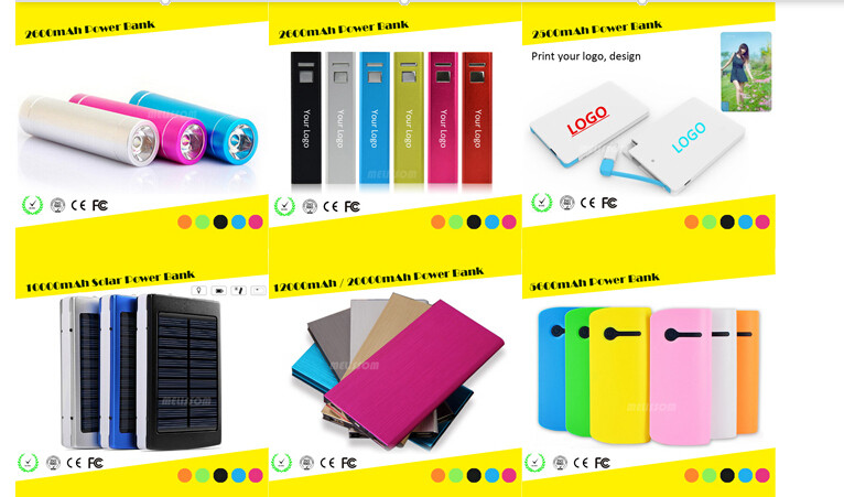 Custom Chiristmas power bank for mobile phone 2600mAh power bank custom.