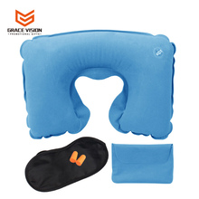 Comfortable U-Shape Custom Inflatable Travel Neck Pillow