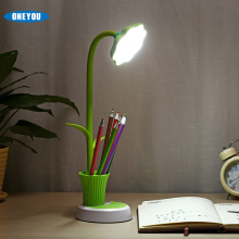 2017 new gift for reading man table lamp and pen holder 2 In 1 portable colorfull LED light Sunflowers wireless desk lamp