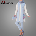 2018 Spring Two Piece Sets Out Wear For Women In Casual Islamic Clothing Floral Chiffon Malaysia Fashion Clothing