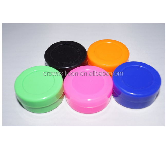FDA approved silicone jars dab wax container, butane hash oil silicone container wholesale