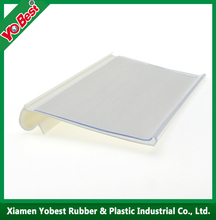 Hot Sell Clear Supermerket price tag label holder strip /PVC plastic shelf price strip