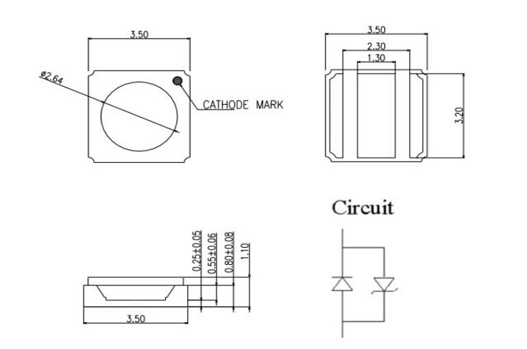 High Radiant Flux LG Chip 3535 1w 2w 3w 365nm 385nm 395nm UV SMD LED