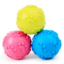 Teeth Bite Soft Rubber Dog Cat Play Ball Products Squeaky Ball Rubber Dog Toys for Sale