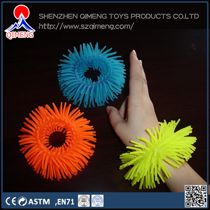 halloween/Christmas/party bracelet puffer ball toy glow in the dark