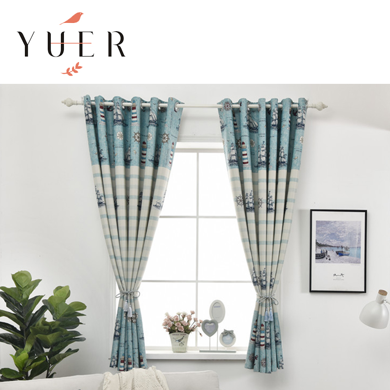 wholesales room divider 70% Polyester 30% cotton curtain design new model