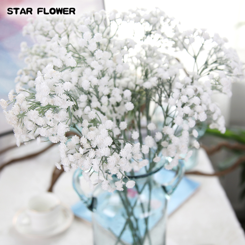 69CM 243 Heads Plastic Artificial babysbreath Baby breath for Flower arrangement and Gift Wrapping