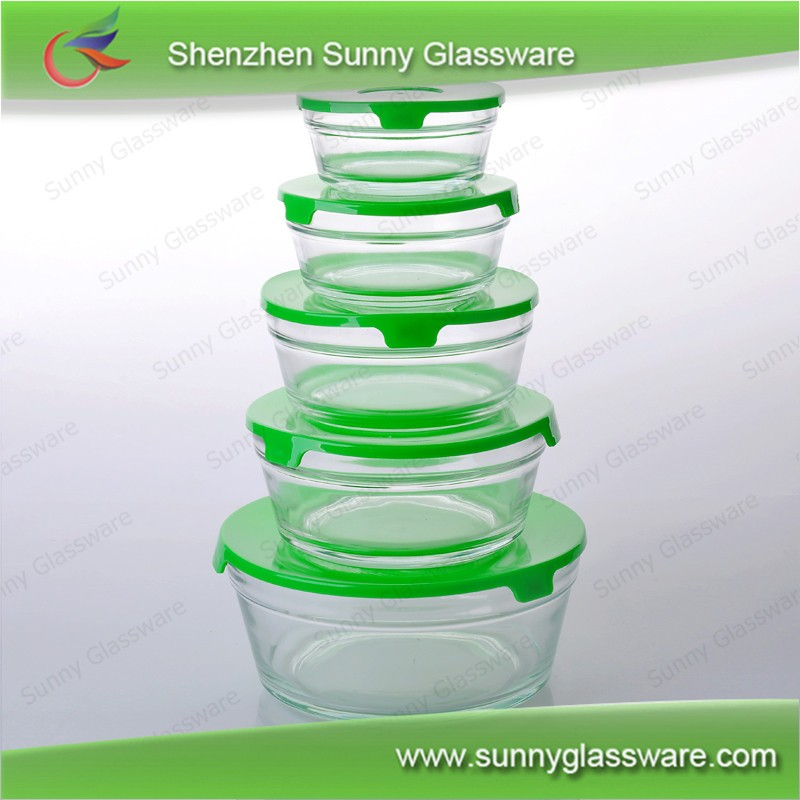 Food Grade Pyrex Glass Coantainer Sets With Lid Manufacturer