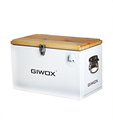 Giwox Wooden Cover Metal Cooler Box for Outdoor