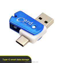 Hot sales promotion USB2.0 SD TF Card Reader,Mini SD Card Reader Memory Card Reader for Mobile