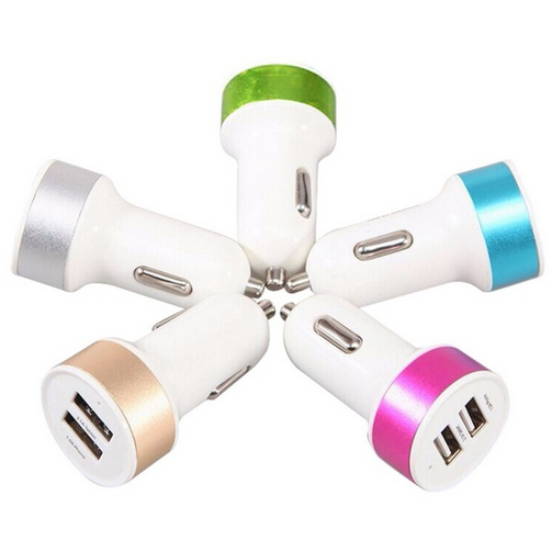 High Quality Universal Smart Fuse Circuit-Breaker Dual USB Port 5V 3.1A Car Charger For Mobile Phones Tablet PC 1 Pcs