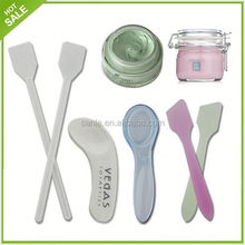 2015 high quality plastic mini cosmetic mask spatula spoon with cheapest price