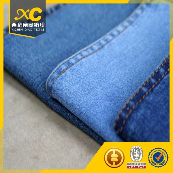 100% cotton textile denim fabric for backpacks