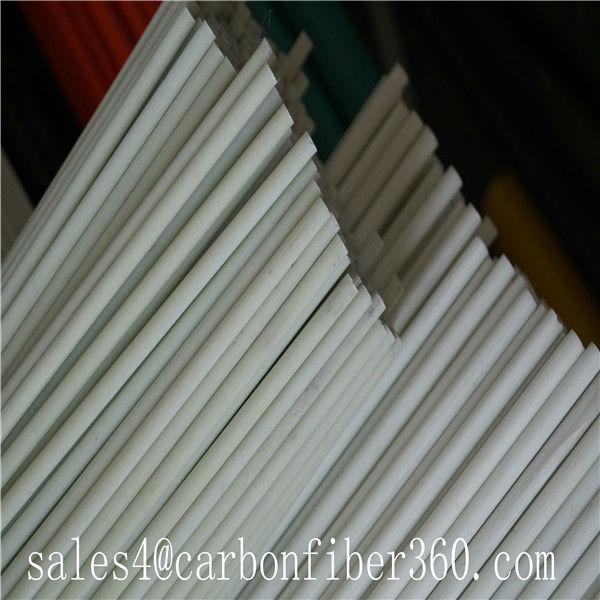 Blanco fibra de vidrio barra de la cortina poste frp barra - Tubos fibra de vidrio ...