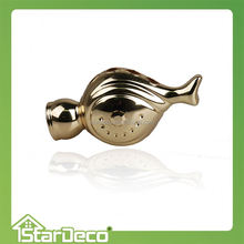 Z510 popular Egg design antique metal screw curtain rod finial