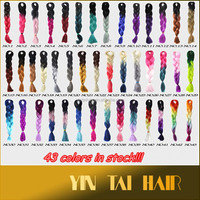 Top Quality Japanese Fiber Ombre Braiding Hair Ultra Braiding Hair Extensions