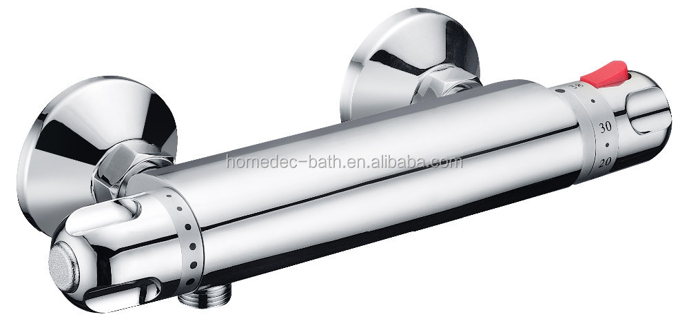 Brass chrome shower faucet mixer tap thermostatic valve