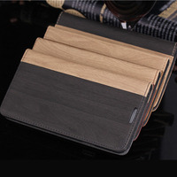 bicolor wood pattern note retro book leather case for samsung galaxy note 3