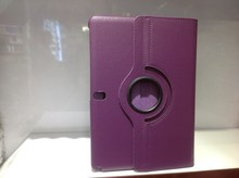 Purple Rotating tablet case for samsung galaxy note 10.1 2014 editionP600/P601 rotating case
