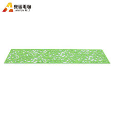 Hot selling table decorative green felt laser cut placemat
