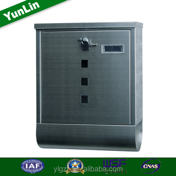 High quality Stainless Steel Postbox With News Paper Holder- Metal lockable Mail Letter Box