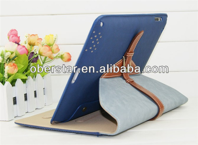 Buckle Design PU Leather Case With Built-In Stand For Apple iPad Air