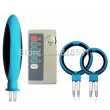 silicone rubber electric massage kit vagina probe sex toy