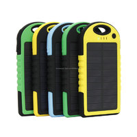 IPX4 waterproof solar power bank 5000mAh with high output 2A