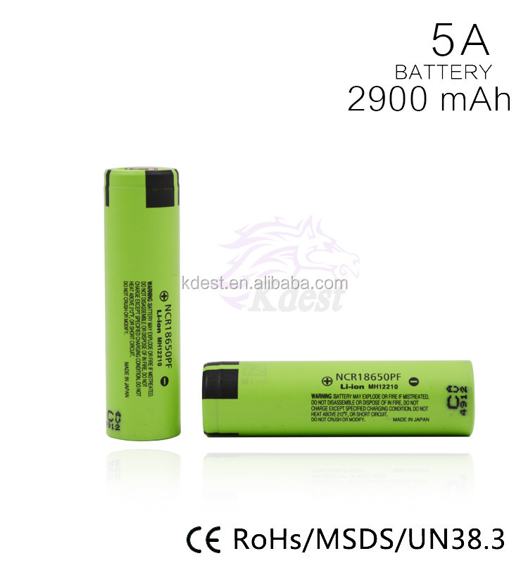 Top quality Original 18650PF 2900mah 18650 cell from Japan battery 18650
