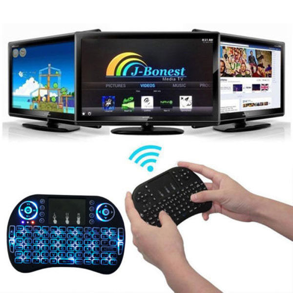 I8 backlight Multi-media Remote Control Touchpad function Air Mouse backlit keyboard