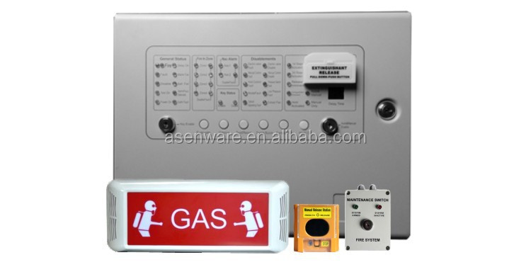 Automatic Fire Alarm Gas Release Warning Signage