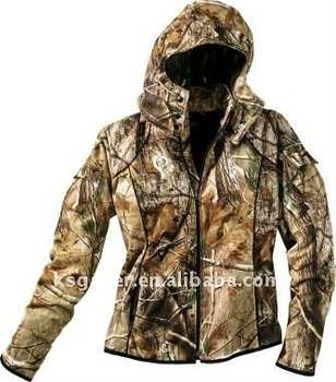 winderproof and winderprood ,breathable , women camo hunting jacket