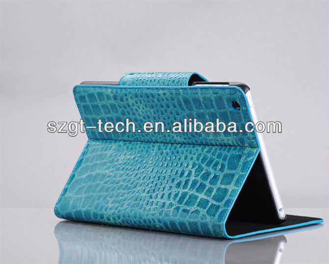 For ipad mini case 2013 fashion crocodile