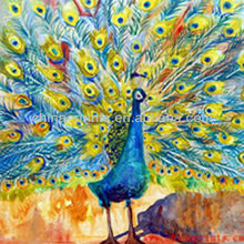 High Quality Handpainted Peacock Oil Painting